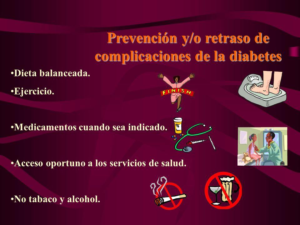 Prevención y/o retraso de complicaciones de la diabetes