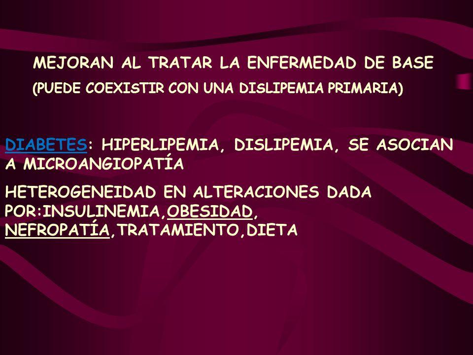 MEJORAN AL TRATAR LA ENFERMEDAD DE BASE