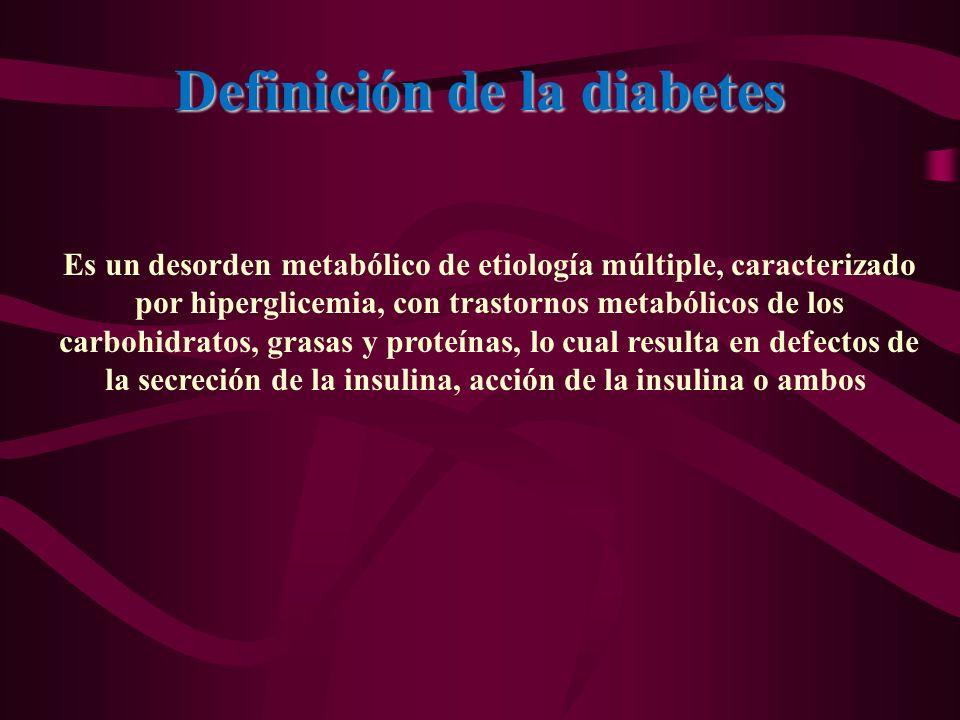 Definición de la diabetes