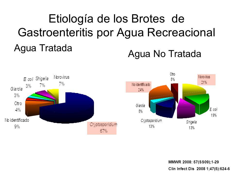 Etiología de los Brotes de Gastroenteritis por Agua Recreacional