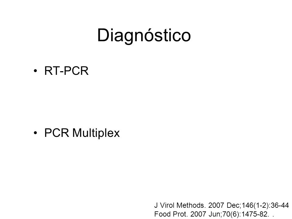 Diagnóstico RT-PCR PCR Multiplex