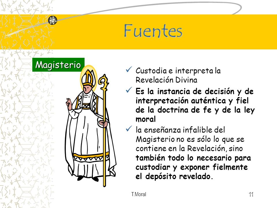 Fuentes Magisterio Custodia e interpreta la Revelación Divina
