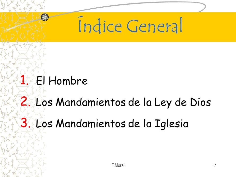Índice General El Hombre Los Mandamientos de la Ley de Dios