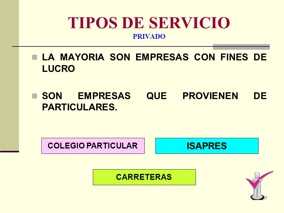 TIPOS DE SERVICIO PRIVADO