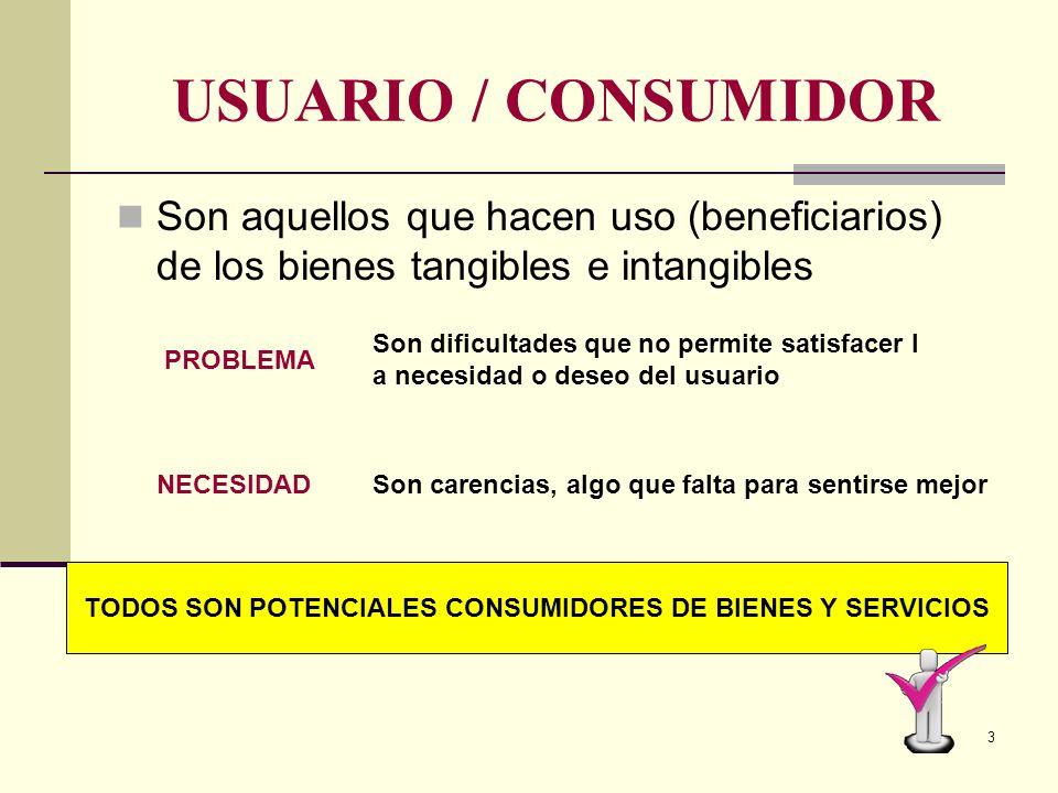 TODOS SON POTENCIALES CONSUMIDORES DE BIENES Y SERVICIOS
