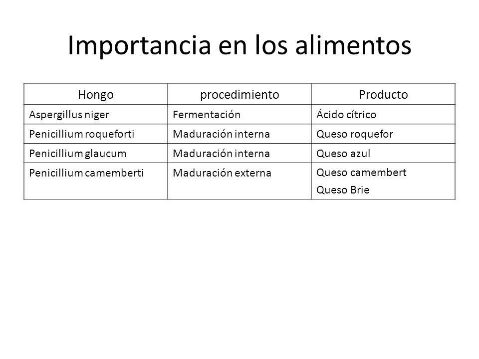 Importancia en los alimentos