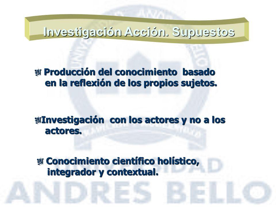 Investigación Acción. Supuestos