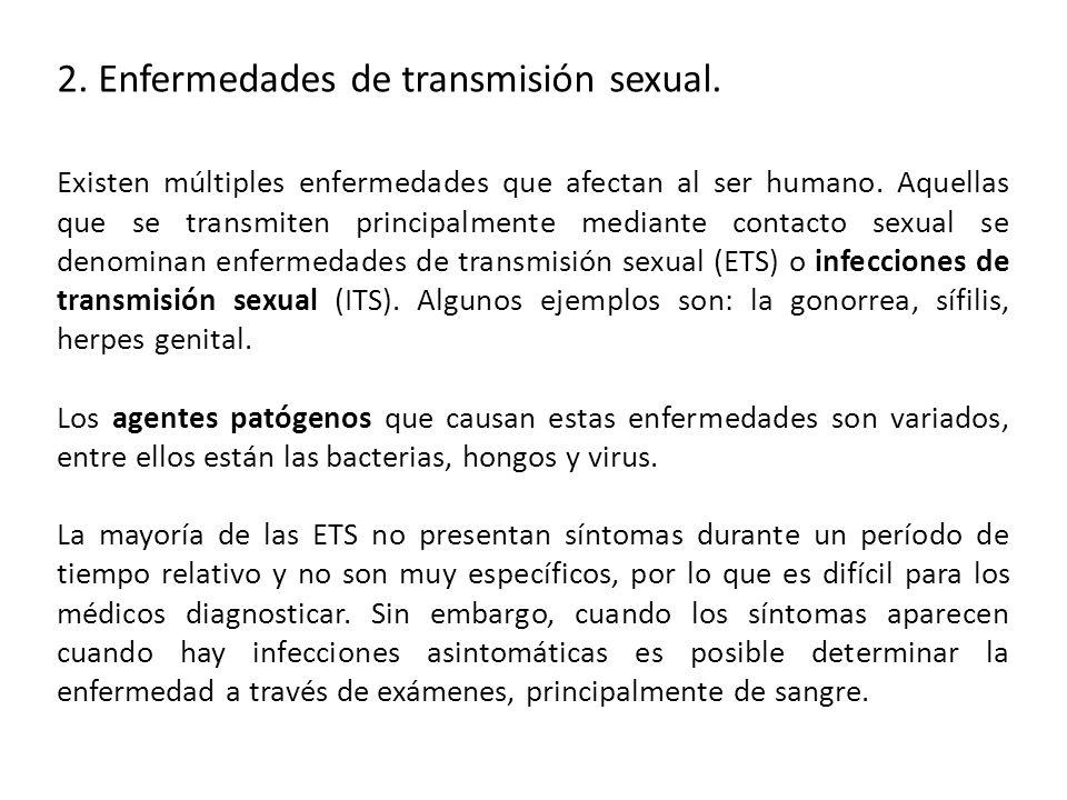 2. Enfermedades de transmisión sexual.