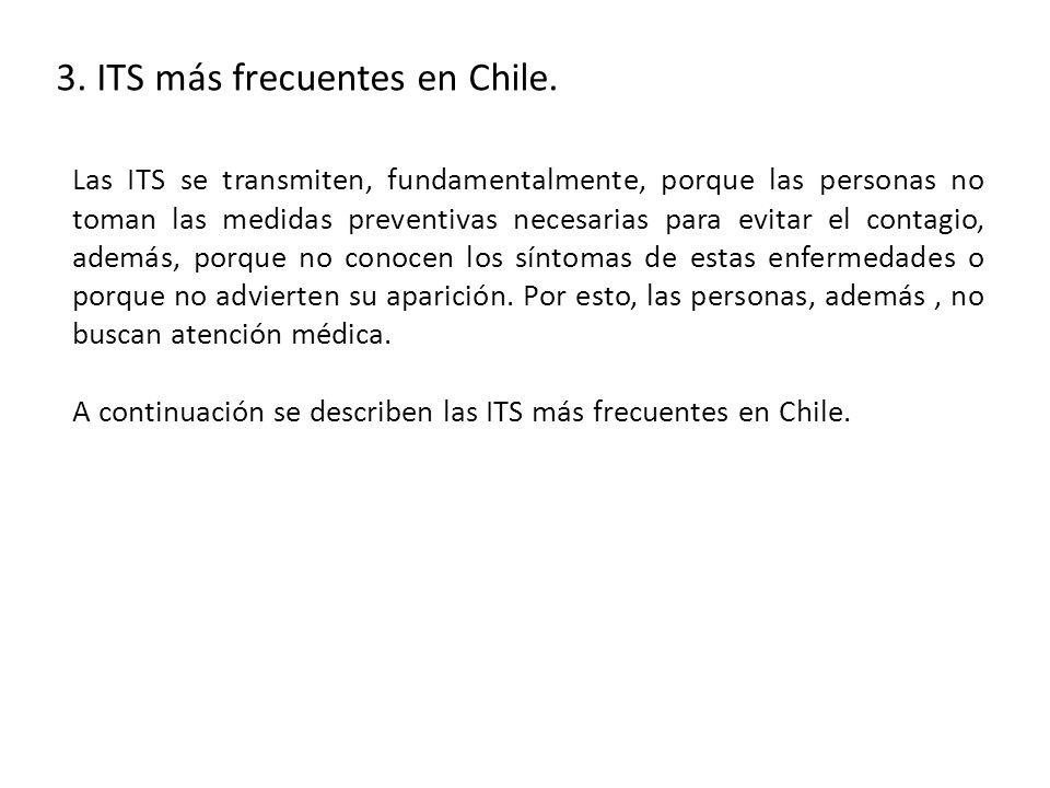 3. ITS más frecuentes en Chile.