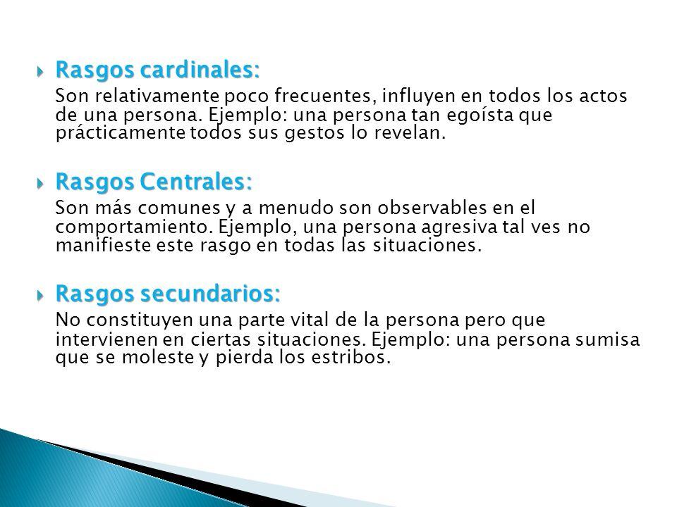 Rasgos cardinales: