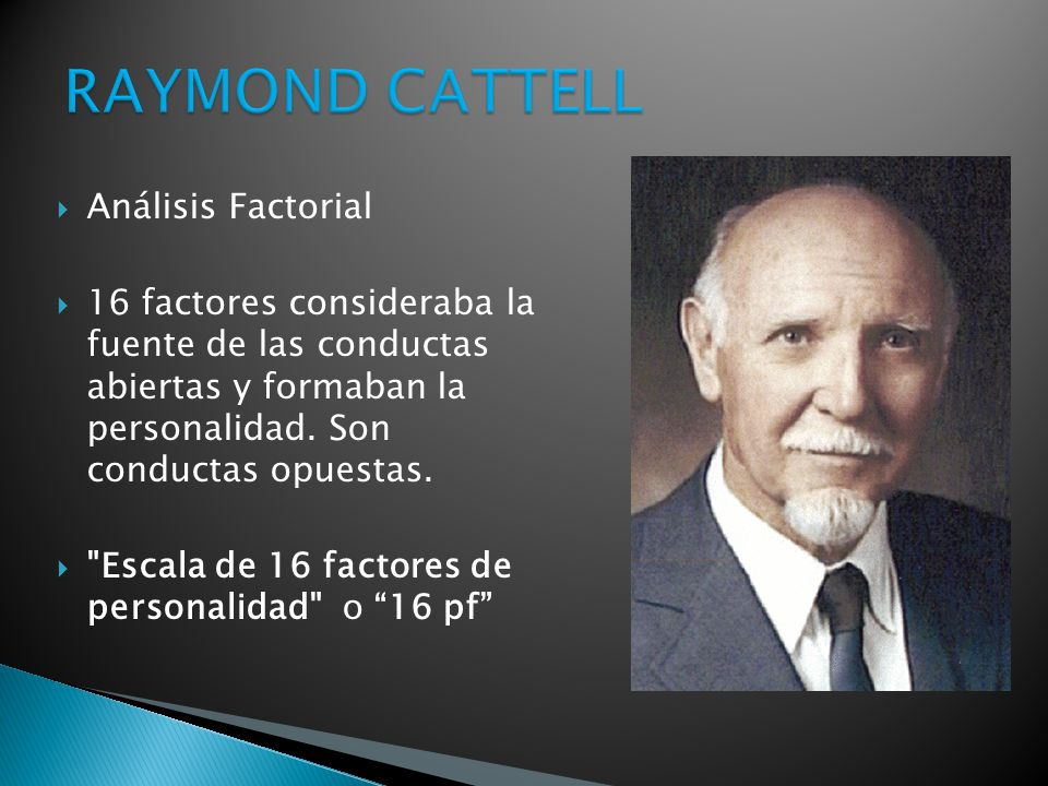 RAYMOND CATTELL Análisis Factorial
