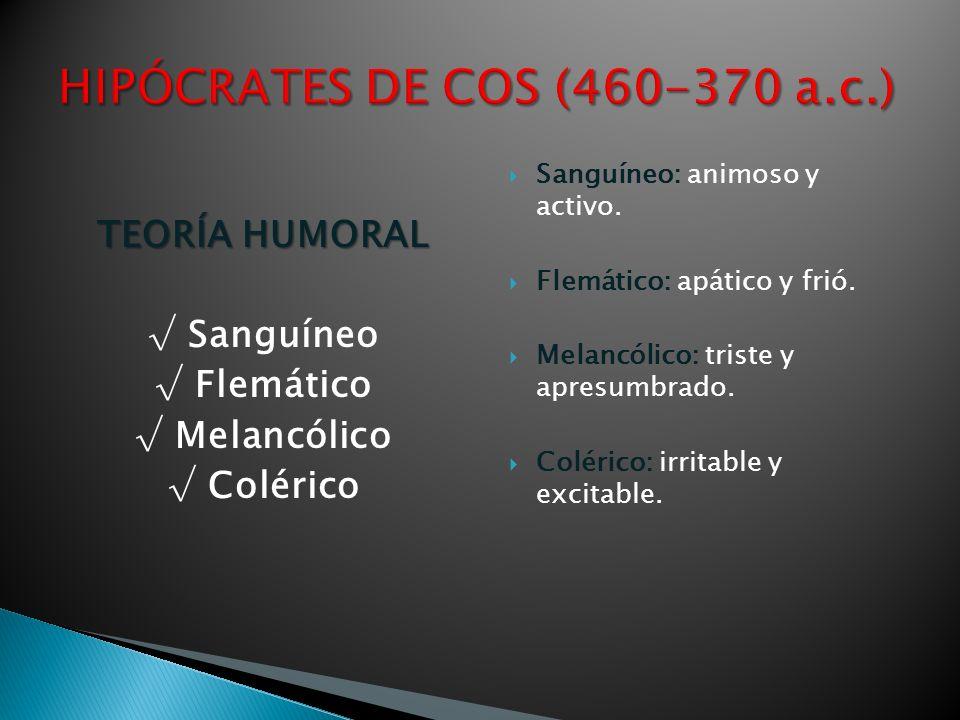 HIPÓCRATES DE COS (460-370 a.c.)