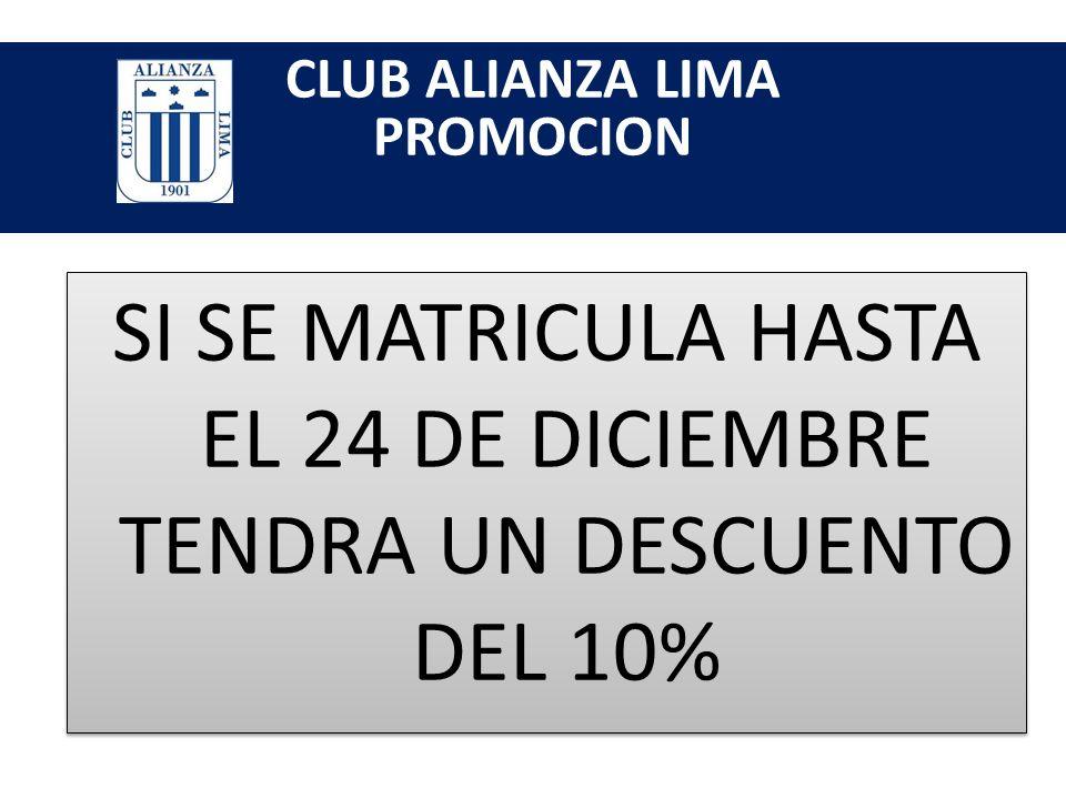 SI SE MATRICULA HASTA EL 24 DE DICIEMBRE TENDRA UN DESCUENTO DEL 10%
