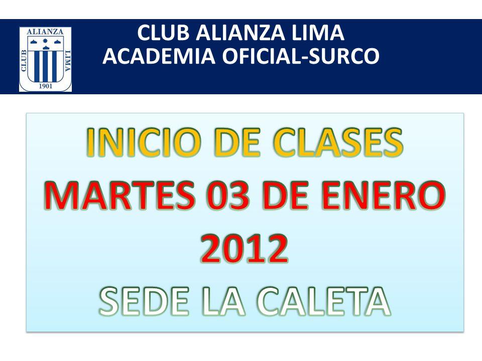 CLUB ALIANZA LIMA ACADEMIA OFICIAL-SURCO