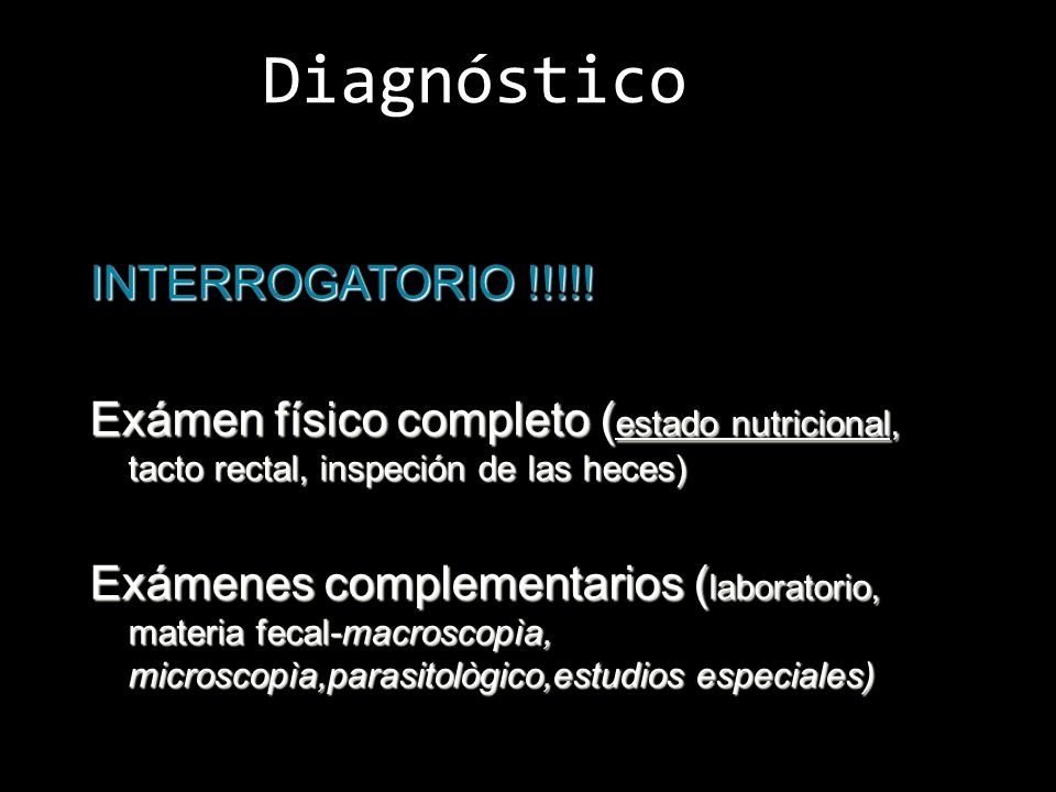 Diagnóstico INTERROGATORIO !!!!!