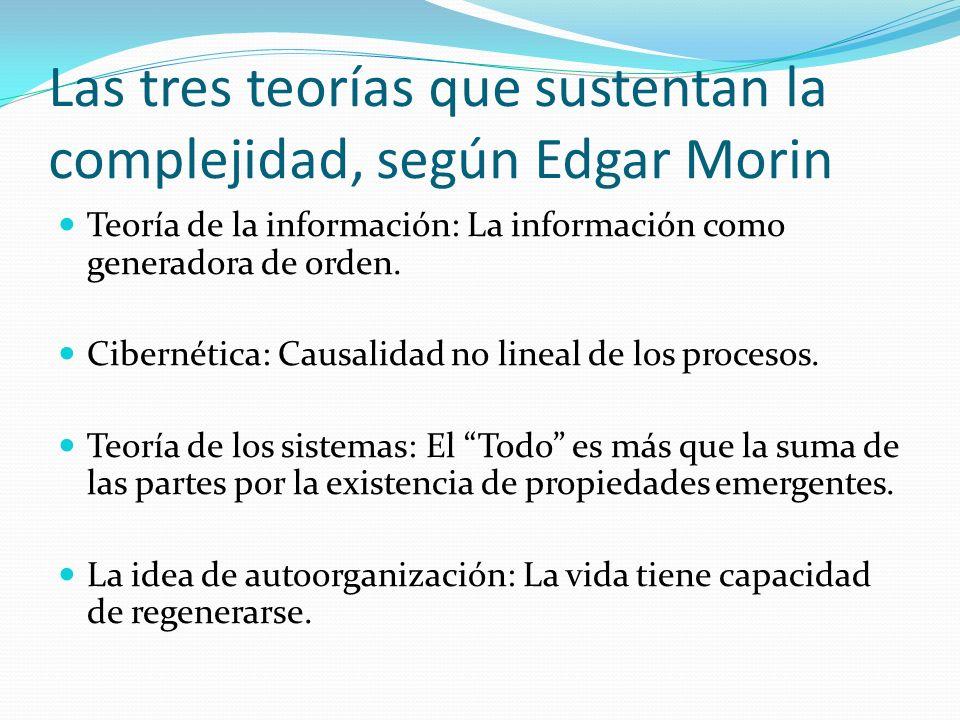 Las tres teorías que sustentan la complejidad, según Edgar Morin
