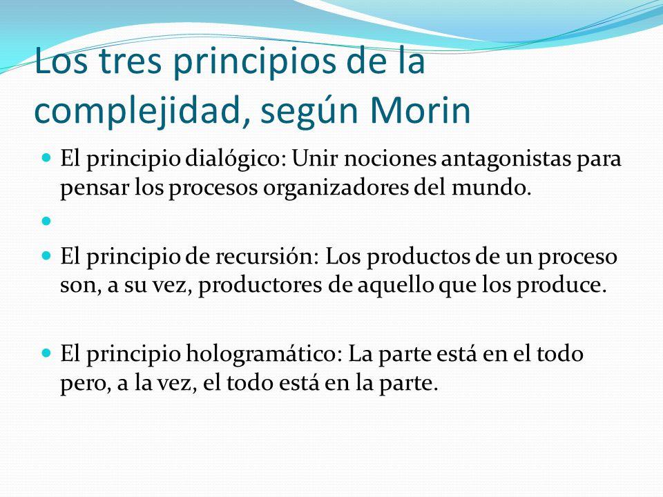 Los tres principios de la complejidad, según Morin