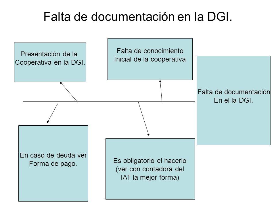 Falta de documentación en la DGI.