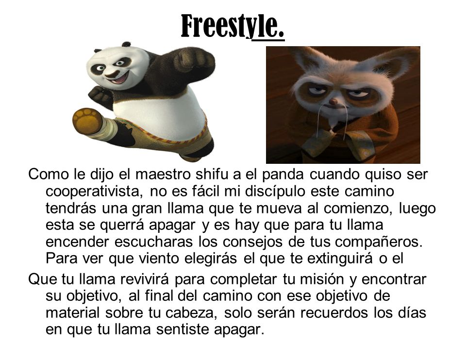 Freestyle.