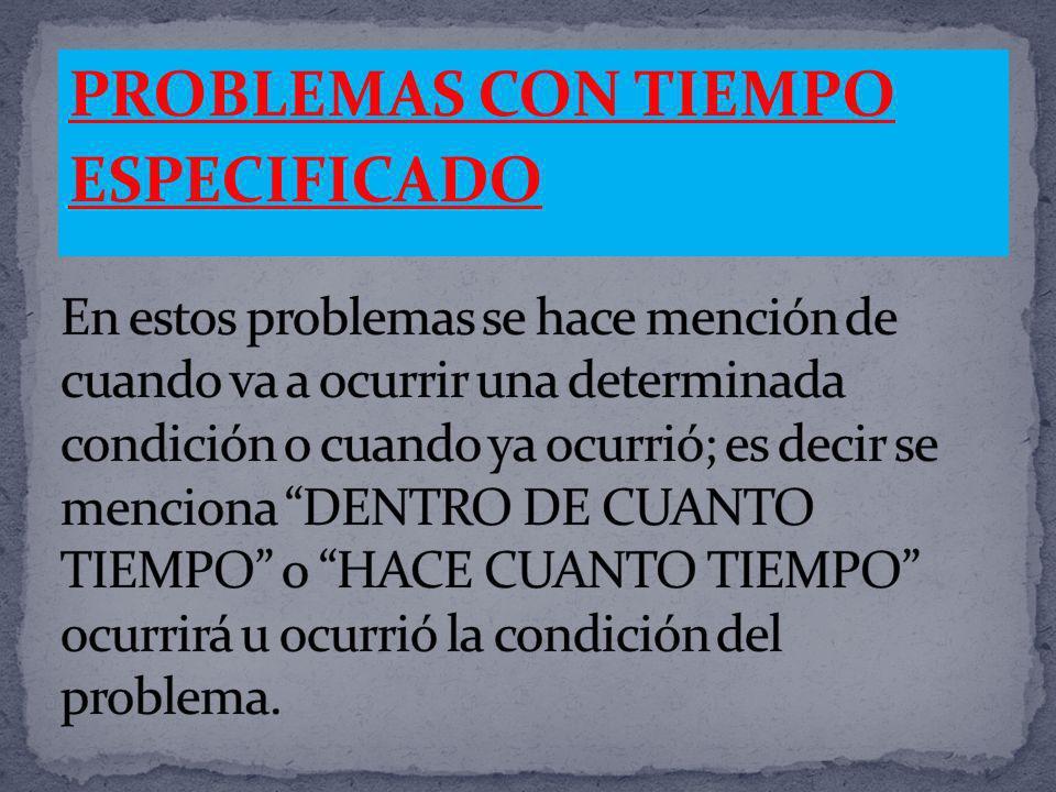 PROBLEMAS CON TIEMPO ESPECIFICADO