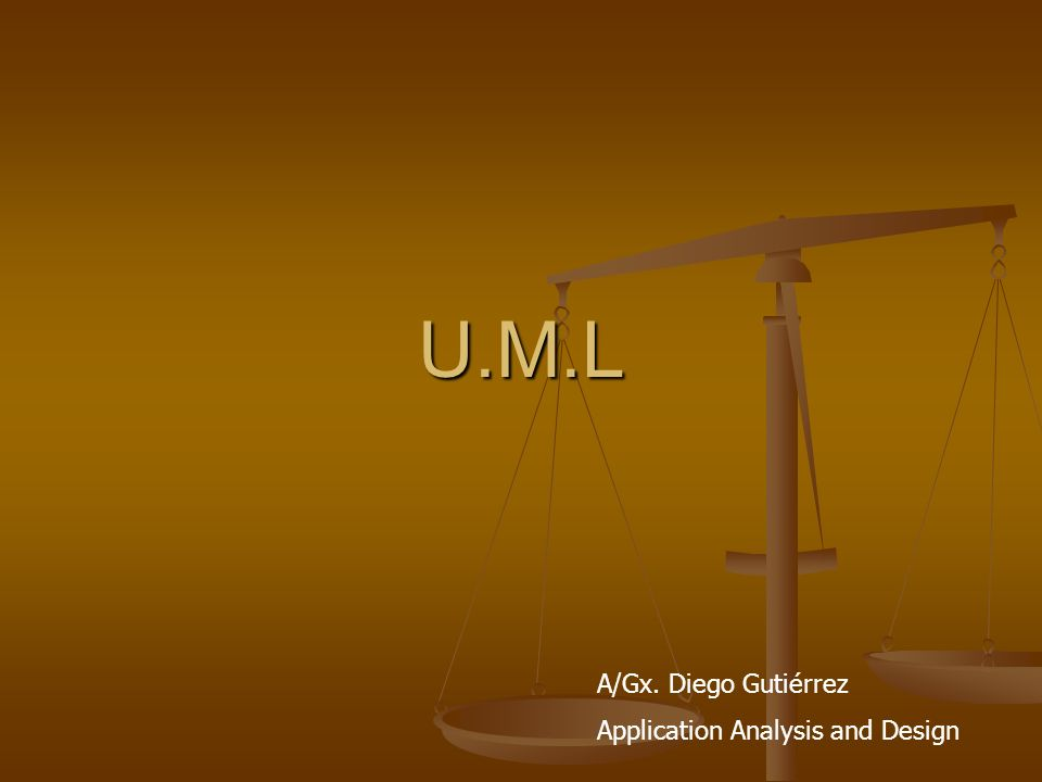 U.M.L A/Gx. Diego Gutiérrez Application Analysis and Design