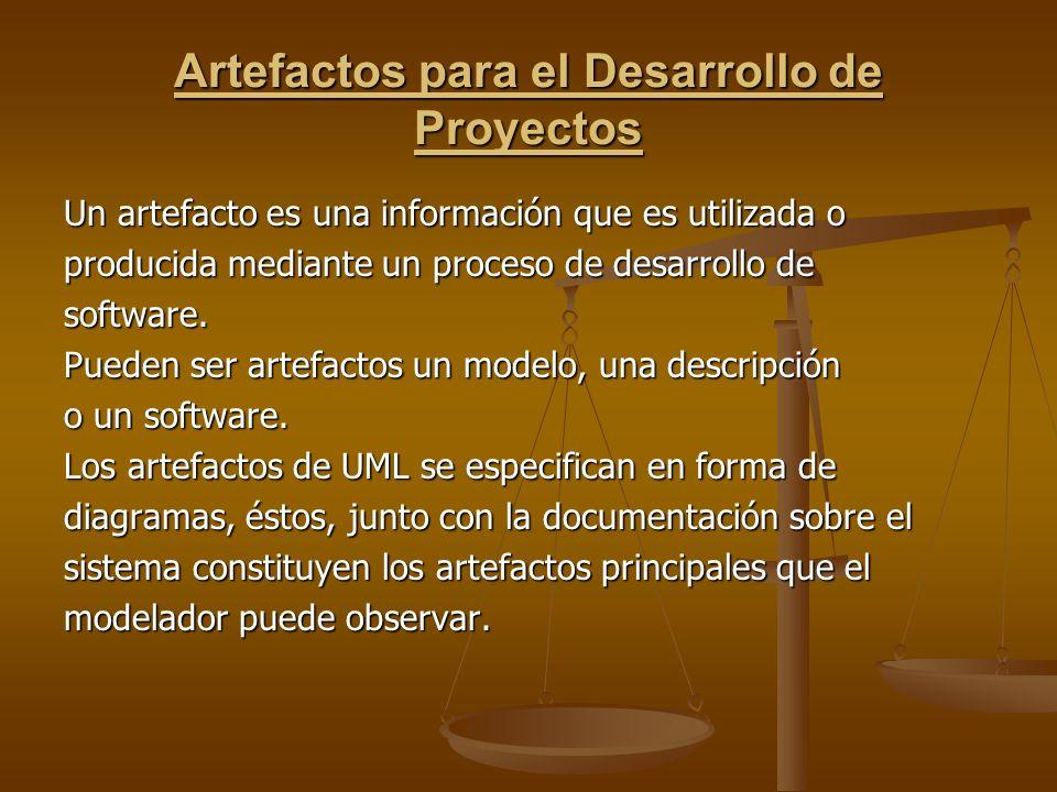 Artefactos para el Desarrollo de Proyectos