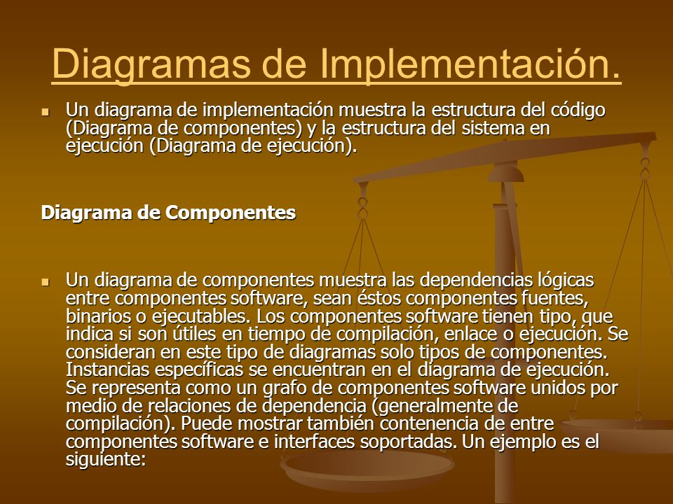 Diagramas de Implementación.