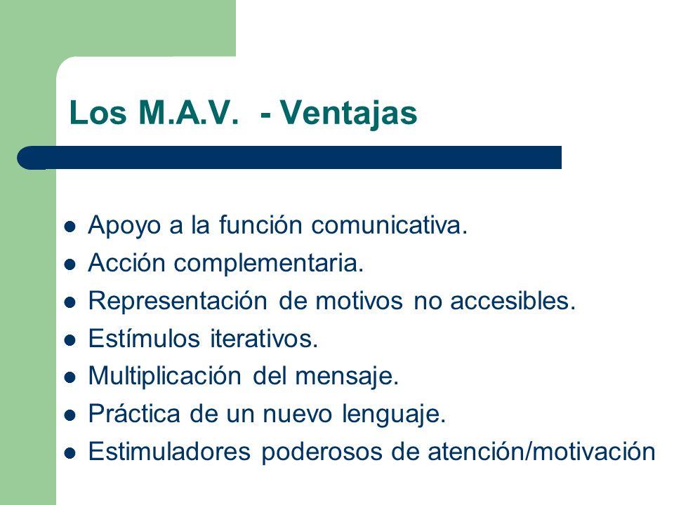 Los M.A.V. - Ventajas Apoyo a la función comunicativa.