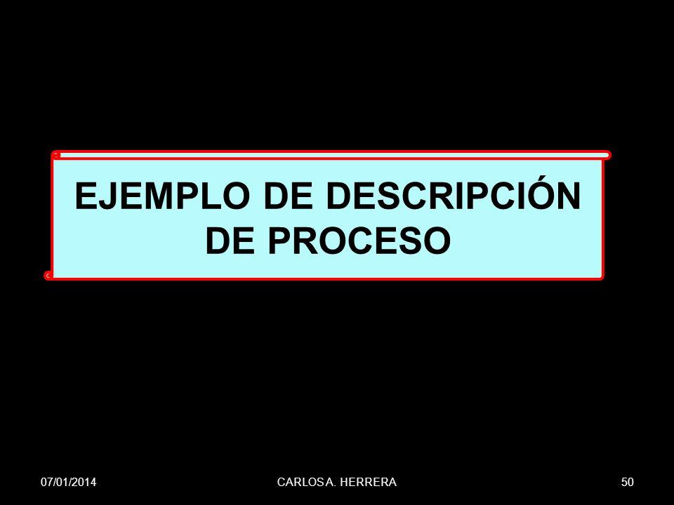 EJEMPLO DE DESCRIPCIÓN