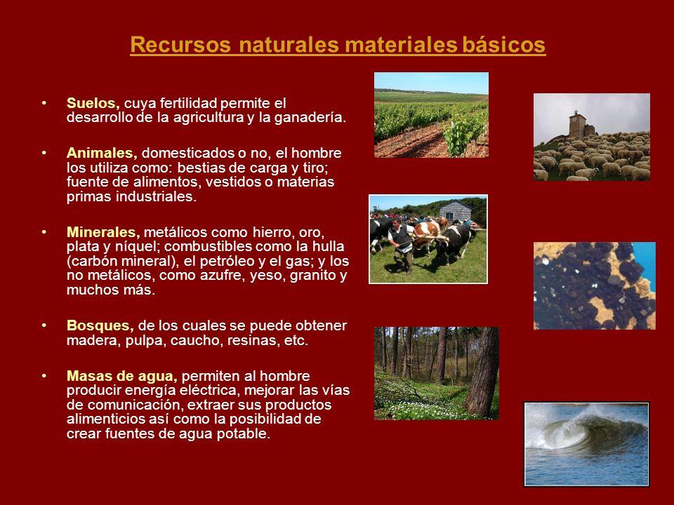 Recursos naturales materiales básicos