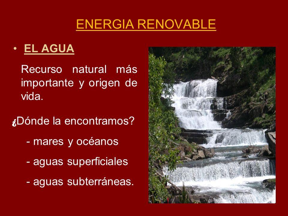 ENERGIA RENOVABLE EL AGUA