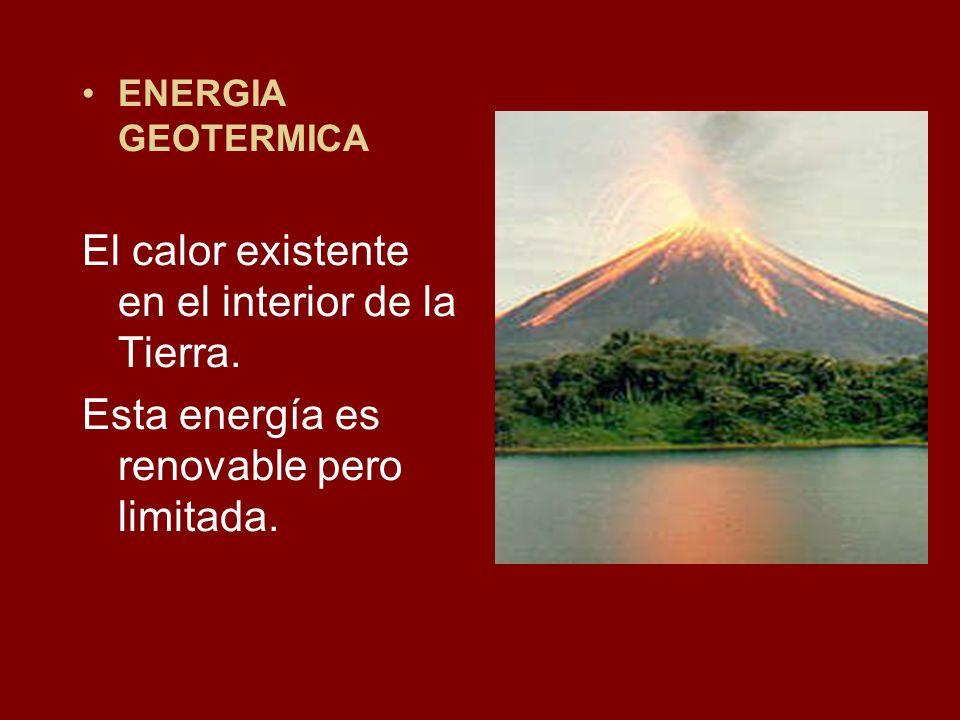 El calor existente en el interior de la Tierra.