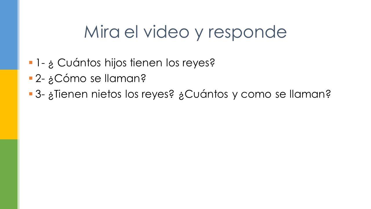Mira el video y responde