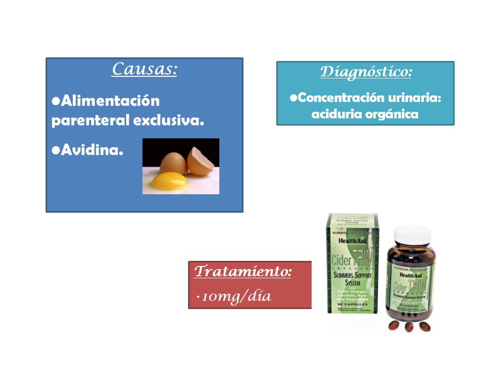 Concentración urinaria: aciduria orgánica