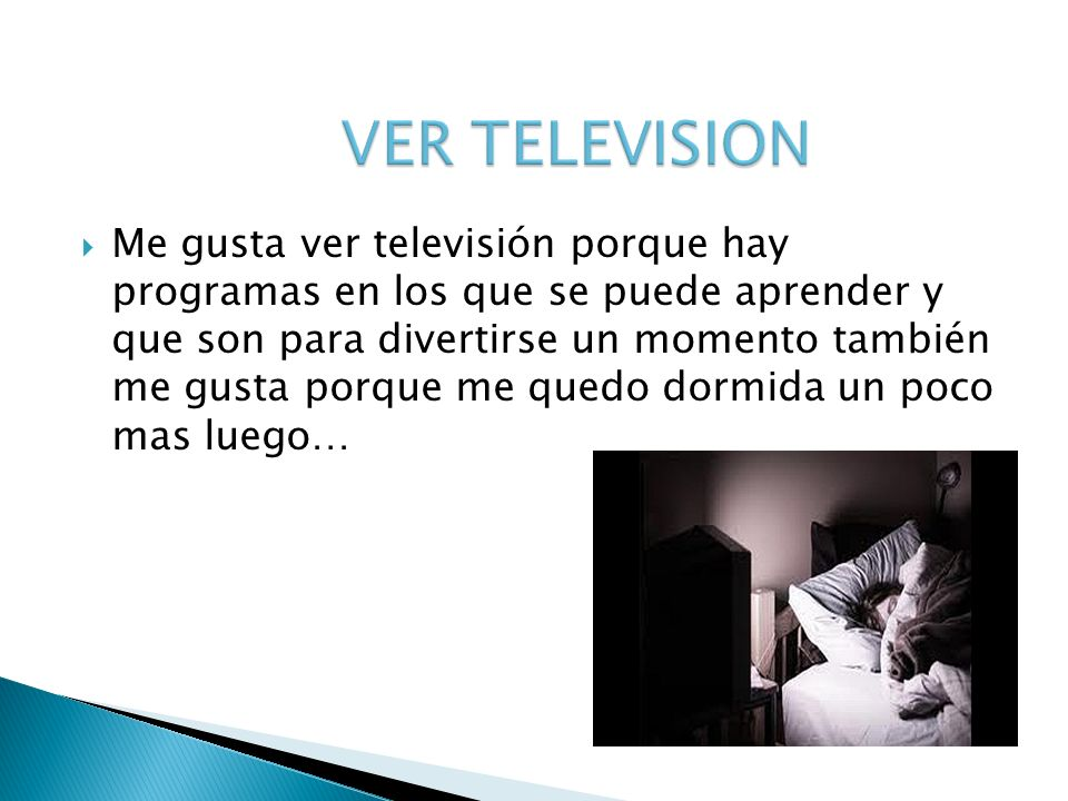 VER TELEVISION