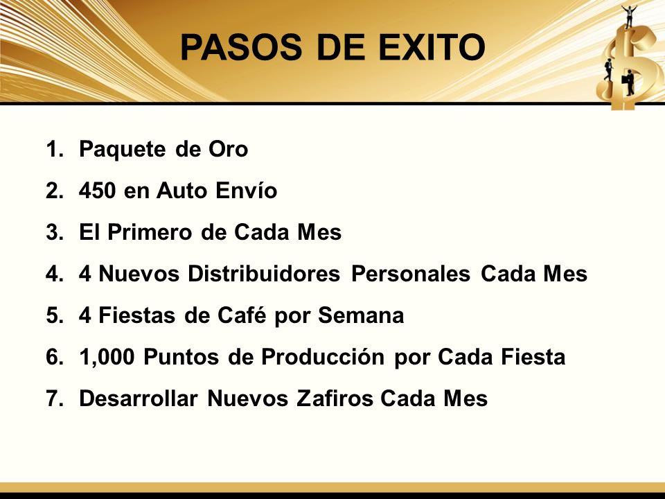 PASOS DE EXITO Paquete de Oro 450 en Auto Envío El Primero de Cada Mes