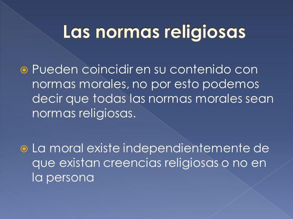 Las normas religiosas