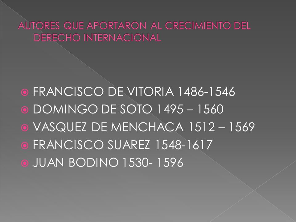 AUTORES QUE APORTARON AL CRECIMIENTO DEL DERECHO INTERNACIONAL