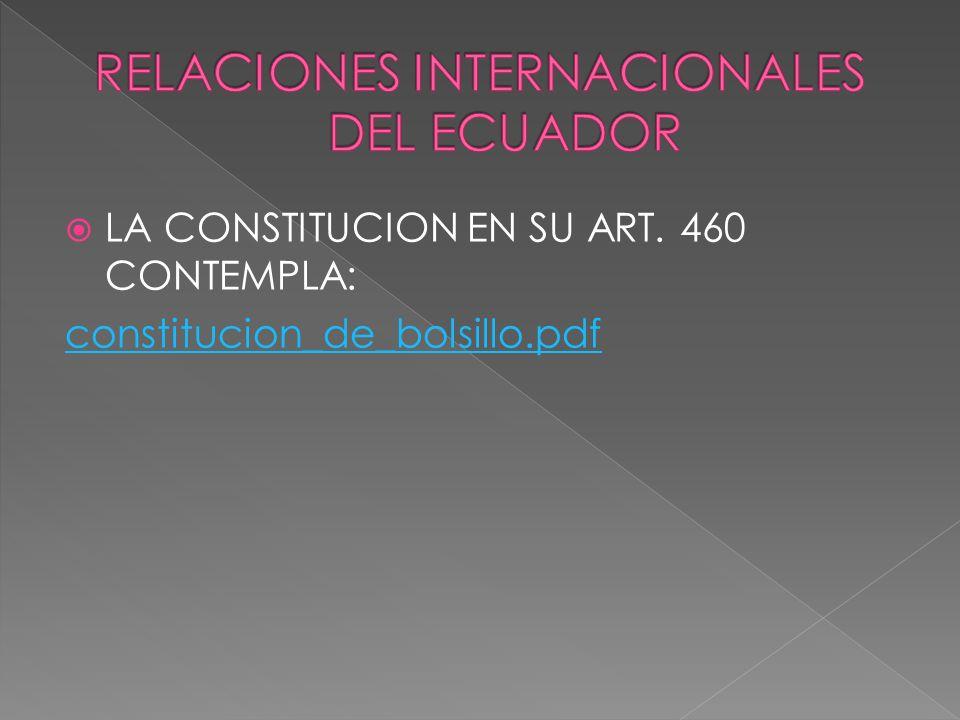 RELACIONES INTERNACIONALES DEL ECUADOR