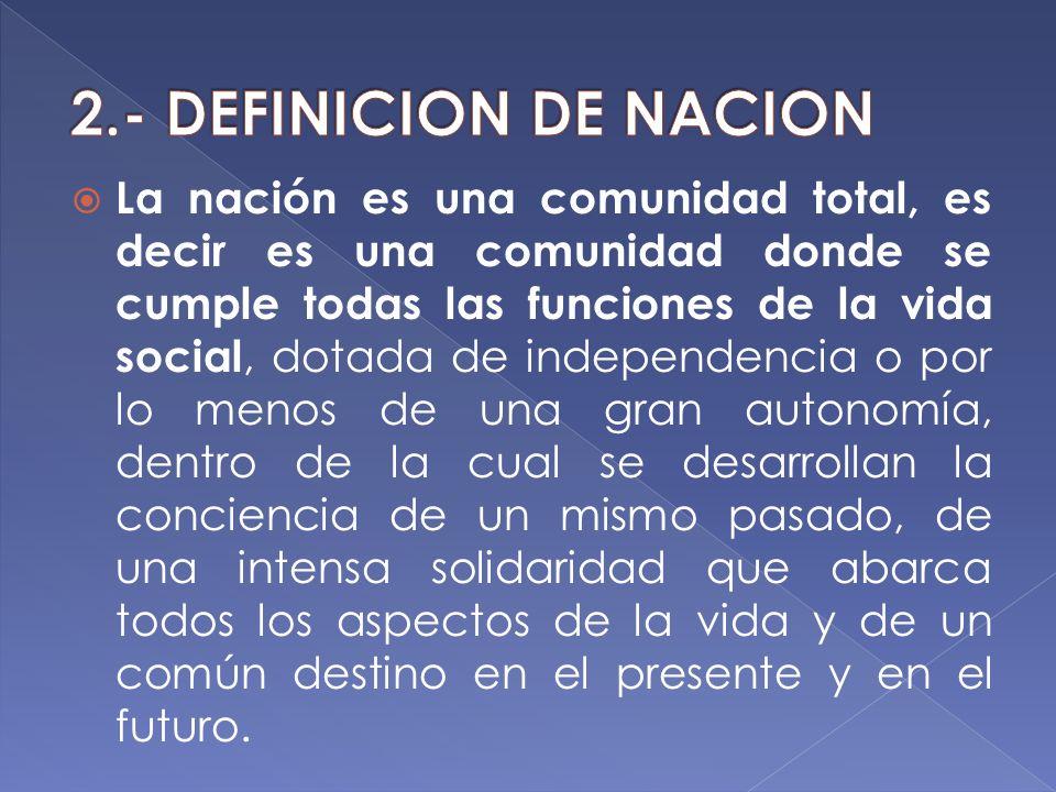 2.- DEFINICION DE NACION