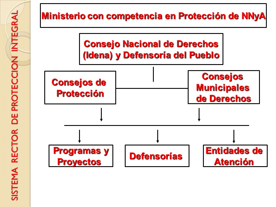 Ministerio con competencia en Protección de NNyA