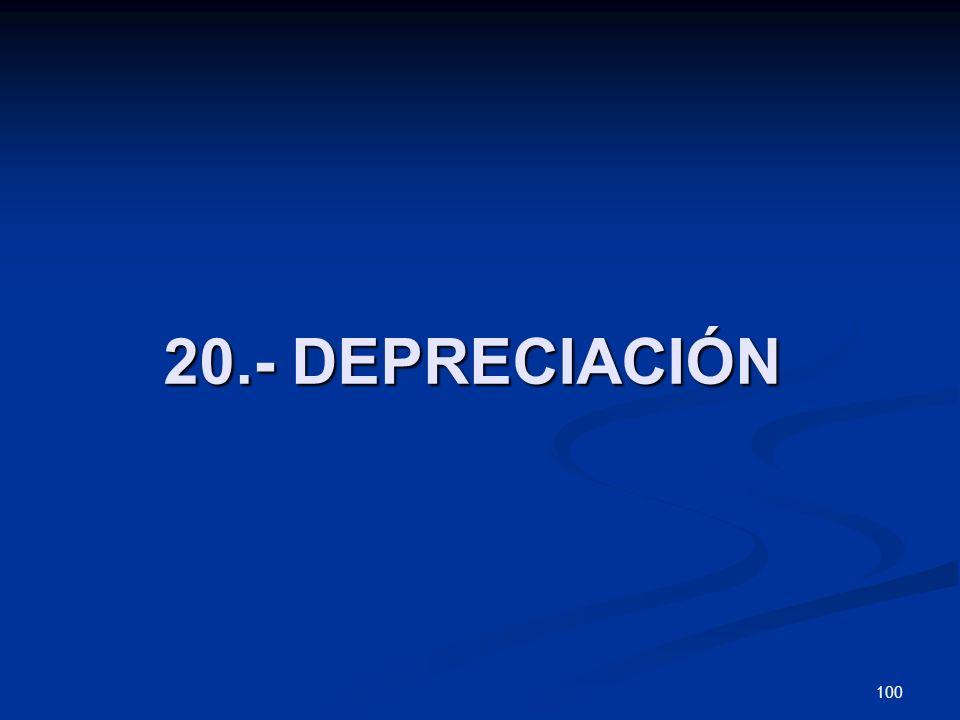 20.- DEPRECIACIÓN