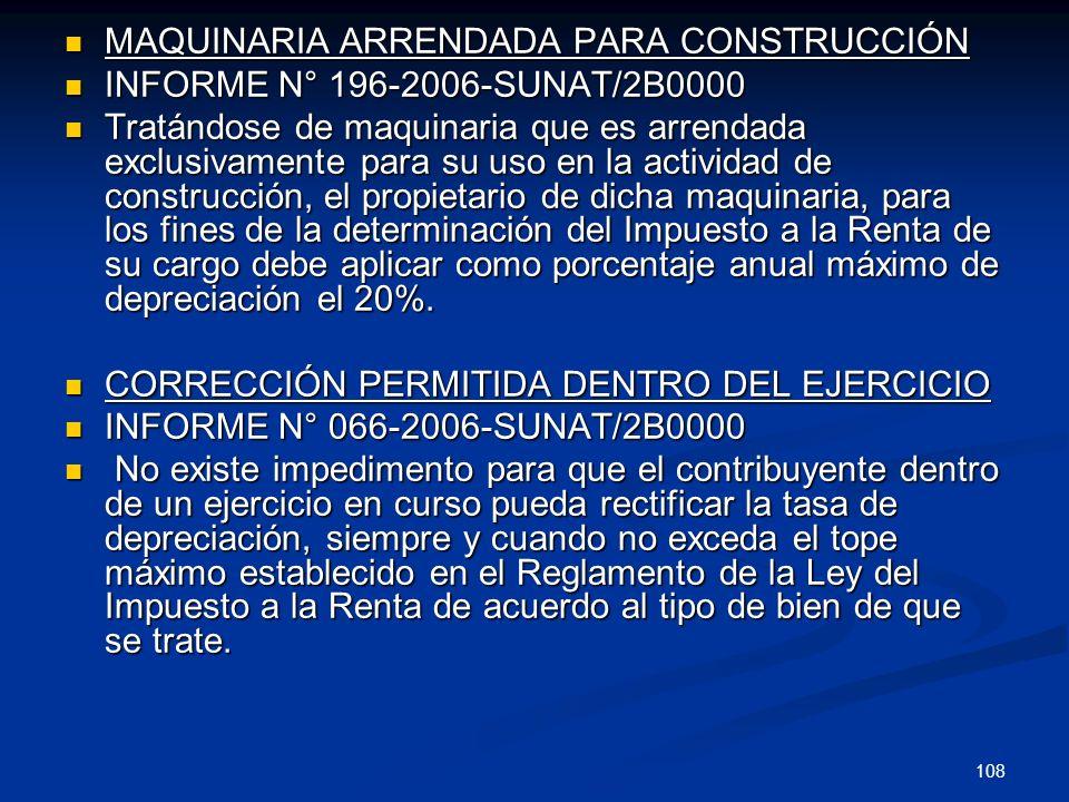 MAQUINARIA ARRENDADA PARA CONSTRUCCIÓN