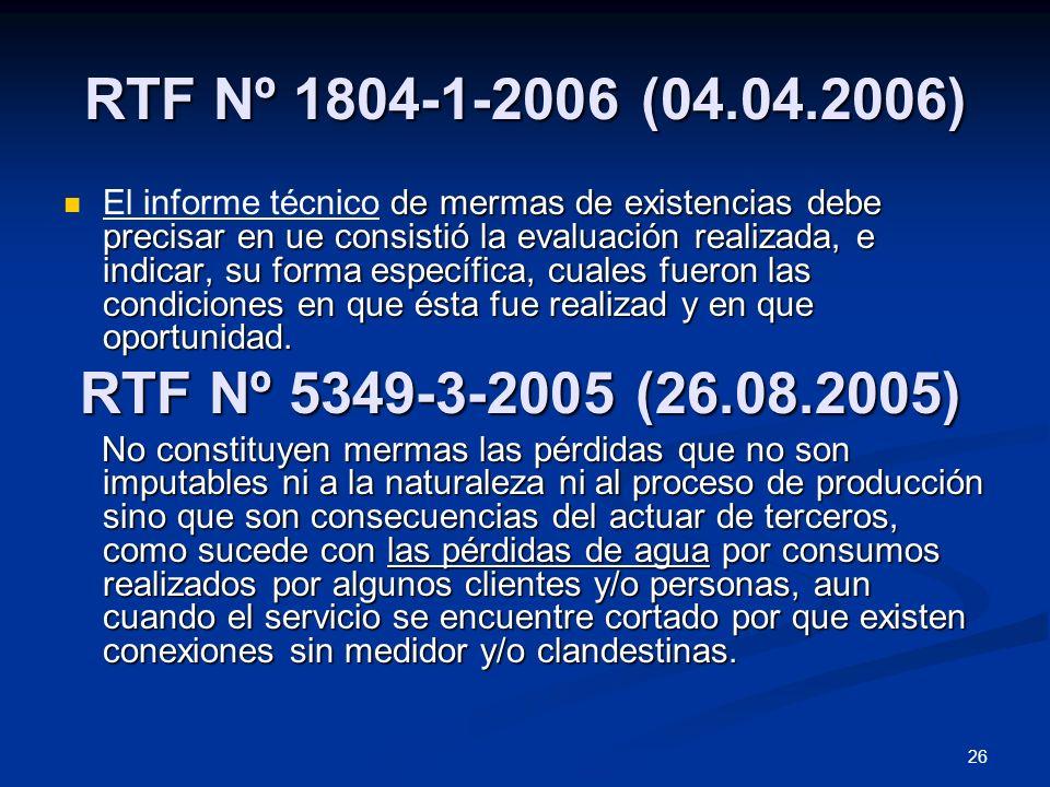 RTF Nº 1804-1-2006 (04.04.2006)