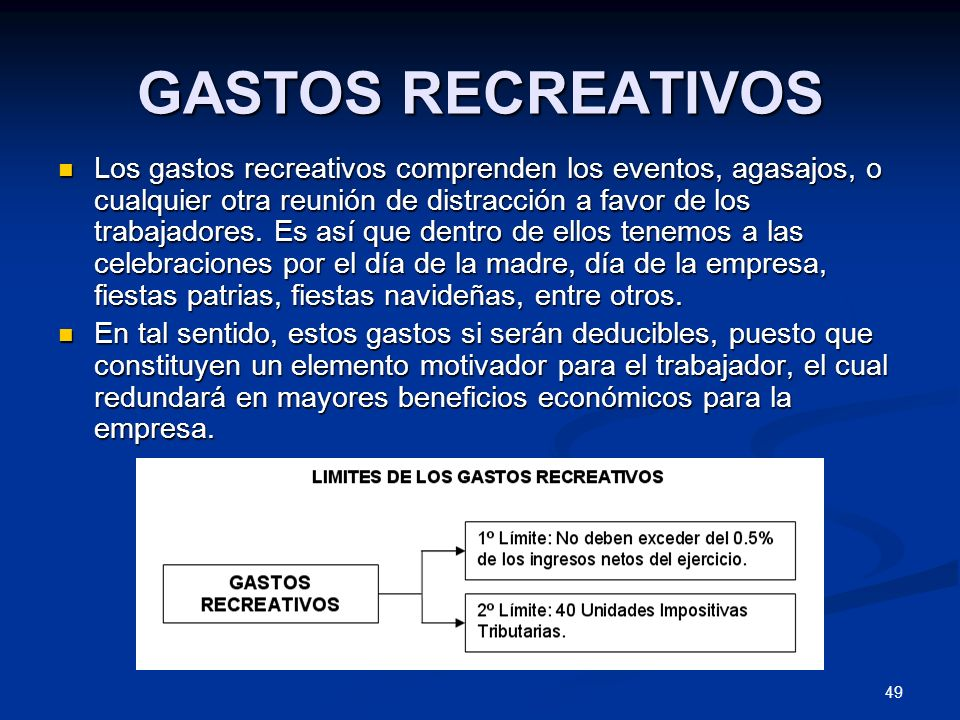 GASTOS RECREATIVOS