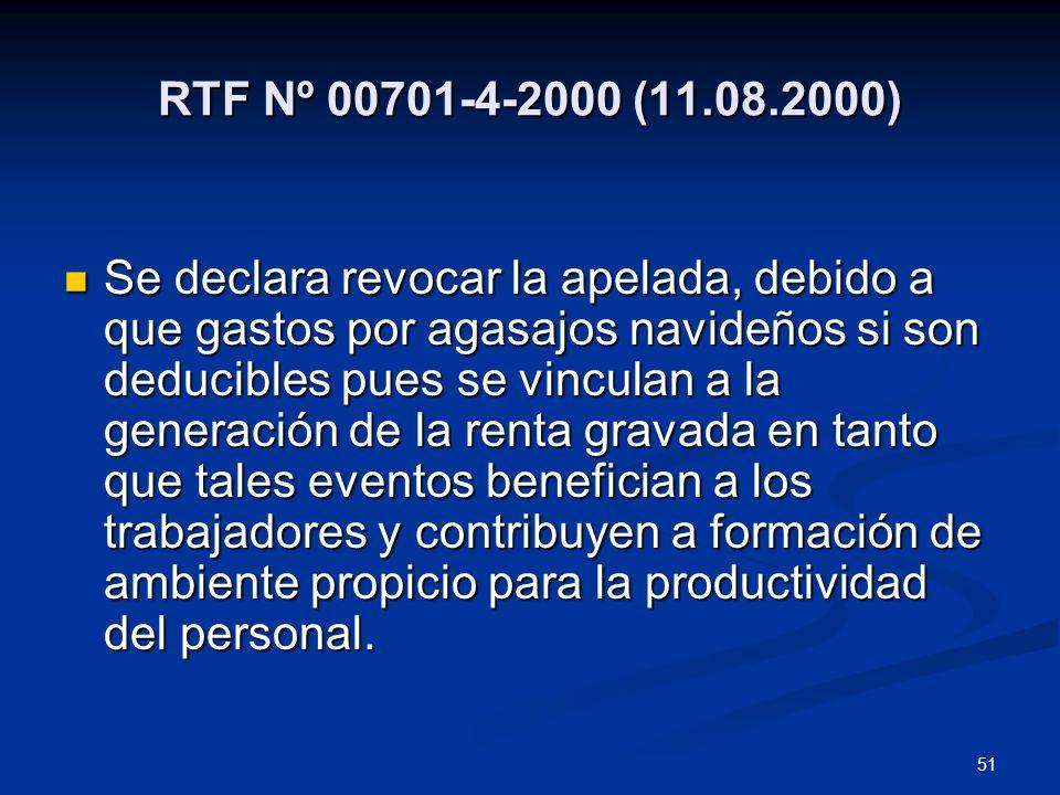RTF Nº 00701-4-2000 (11.08.2000)