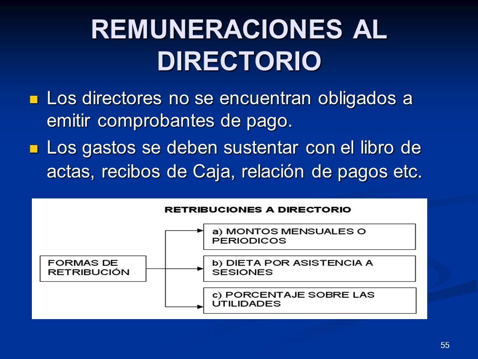REMUNERACIONES AL DIRECTORIO