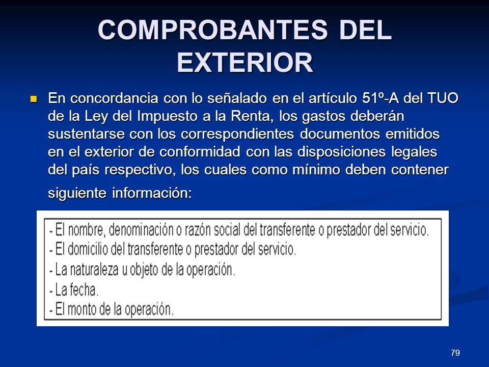 COMPROBANTES DEL EXTERIOR