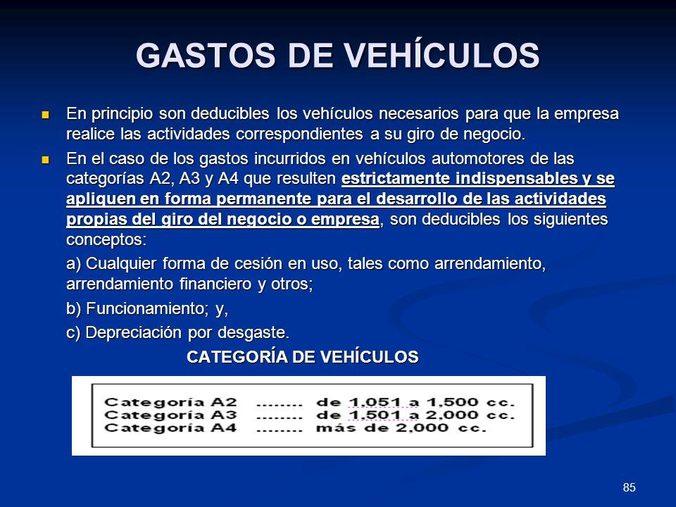 GASTOS DE VEHÍCULOS