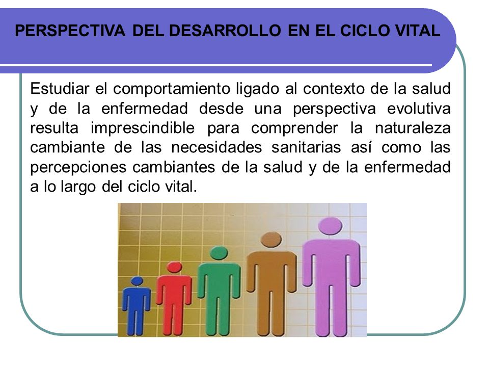 PERSPECTIVA DEL DESARROLLO EN EL CICLO VITAL